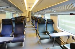 Interior of an empty train car Stock Images