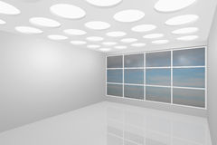 Interior empty new room. 3D visualization of a modern interior empty new room stock illustration
