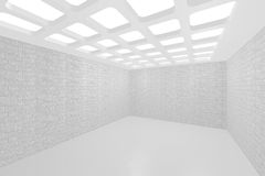 Interior empty new room. 3D visualization of a modern interior empty new room royalty free illustration