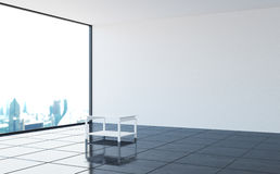 The interior of an empty nonresidential room in a modern style. 3d illustration Stock Photos