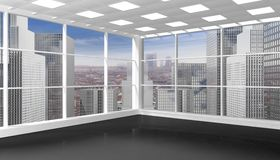 Interior of an empty office/apartment Stock Images
