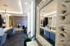 Interior of empty optician shop Royalty Free Stock Photo