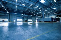 Interior of Empty Parking Lot Royalty Free Stock Photos