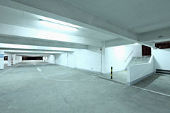 Interior of empty parking lot Royalty Free Stock Photo