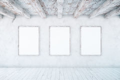 Interior with empty picture frames Stock Photography
