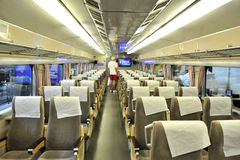 Interior of empty railway carriage Royalty Free Stock Photos