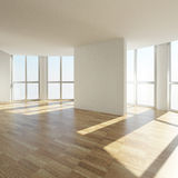 Interior of an empty room. 3d rendering images Stock Illustration
