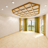 Interior of an empty room. 3d rendering images Stock Photography