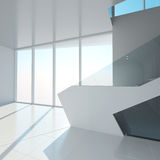 The interior of an empty room. 3D rendering Vector Illustration