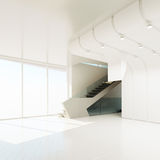 The interior of an empty room. 3D rendering Stock Photos
