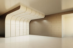 The interior of an empty room. 3D rendering Stock Image