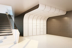 The interior of an empty room. 3D rendering Royalty Free Stock Image
