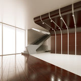 The interior of an empty room. 3D rendering Stock Illustration