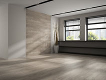 Interior of empty room 3D rendering Royalty Free Stock Images