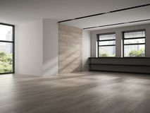 Interior of empty room 3D rendering Royalty Free Stock Photo