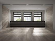 Interior of empty room 3D rendering Stock Images