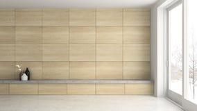 Interior empty room 3D rendering. Interior of empty room 3D rendering Royalty Free Stock Photography