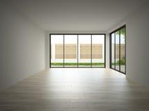 Interior of empty room 3D rendering Stock Photos
