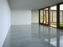 Interior empty room 3D rendering Stock Photography