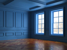 Interior empty room 3D rendering Royalty Free Stock Photos