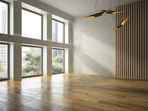 Interior empty room 3D rendering Royalty Free Stock Image