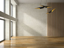 Interior empty room 3D rendering Royalty Free Stock Photography