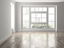 Interior empty room 3D rendering Royalty Free Stock Images