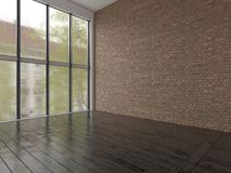 Interior empty room 3D rendering Stock Images