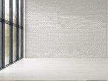 Interior empty room 3D rendering Stock Photos