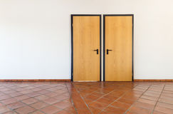 Interior, empty room with two doors Royalty Free Stock Photo