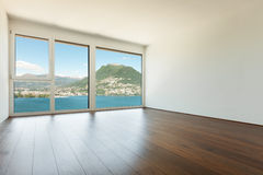 Interior, empty room with window Royalty Free Stock Photos