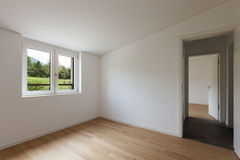 Interior, empty room with window Royalty Free Stock Image