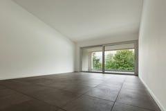 Interior, empty room with window Stock Image