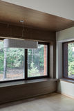 Interior of empty room with windows Royalty Free Stock Images
