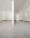 Interior, empty rooms. Renovated old house, empty rooms with withe walls, interior Stock Image