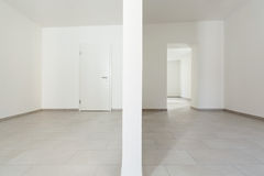 Interior, empty rooms. Renovated old house, empty rooms with withe walls, interior Royalty Free Stock Image