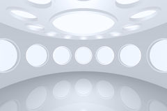 Interior empty space round Stock Images