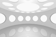 Interior empty space round Stock Image