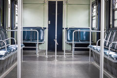 Interior of an empty subway car Stock Image