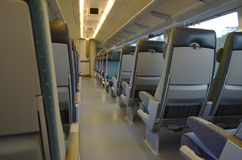 Interior of an empty train car Stock Photography