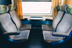 Interior of empty train car Stock Images