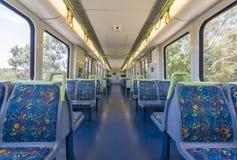 Interior of an empty train Stock Photo