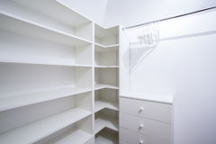 Interior of empty wardrobe Stock Photography