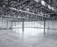 Interior of an empty warehouse Royalty Free Stock Photo