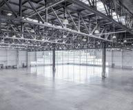 Interior of an empty warehouse Royalty Free Stock Photo
