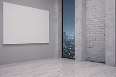 Interior with empty whiteboard Royalty Free Stock Photography