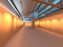 Interior en blanco de la exposición de la galería Foto de archivo libre de regalías