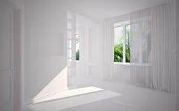 Interior en blanco moderno Foto de archivo