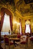 Interior en el Louvre Imágenes de archivo libres de regalías