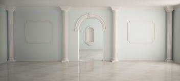 Interior en estilo clásico Imágenes de archivo libres de regalías